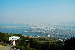 瓷城市俯视萨尼亚 库存照片