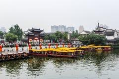 瓷城市孔子・南京新的寺庙年 免版税库存照片