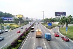 瓷城市深圳业务量 免版税图库摄影
