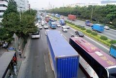 瓷城市深圳业务量 图库摄影