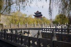 瓷城市qufu墙壁 免版税库存照片