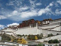 瓷宫殿potala s西藏 图库摄影