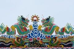 瓷屋顶寺庙 库存照片
