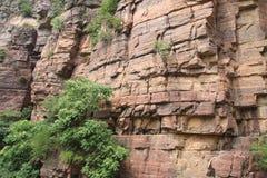 瓷峭壁山红色taihang 图库摄影
