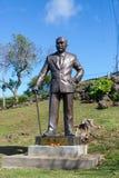 瓷广东广州博士省statue sun yat参议员 sun yat参议员 库存图片