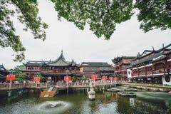 瓷庭院上海yu元 免版税库存图片