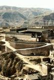 瓷庭院lijiashan山西村庄 库存照片