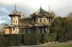 瓷房子 免版税库存照片