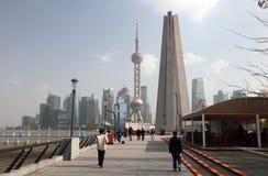 瓷散步上海 库存照片