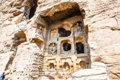 瓷文化datong洞穴遗产找出世界yungang 库存照片