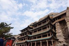 瓷文化datong洞穴遗产找出世界yungang 库存图片