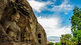 瓷文化datong洞穴遗产找出世界yungang 免版税库存图片