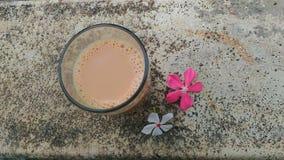 瓷断送新瓷草莓茶时间 放松 库存图片