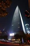 瓷晚上上海视图 库存照片