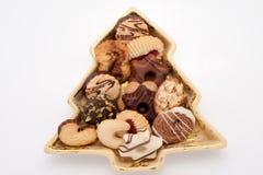 瓷曲奇饼断送冷杉被塑造的结构树 库存照片