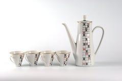 瓷服务茶 免版税库存照片