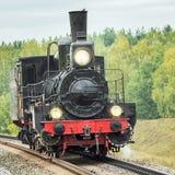瓷机车做减速火箭的蒸汽 库存图片