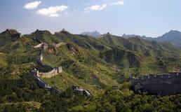 瓷极大的jinshanling的墙壁 免版税库存图片