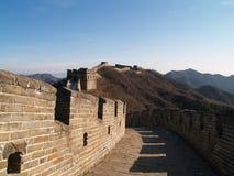 瓷极大的mutianyu墙壁 库存照片
