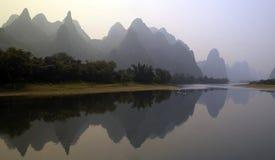 瓷桂林锂河 库存图片