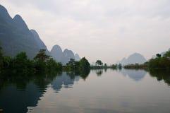 瓷桂林lijiang河 库存图片