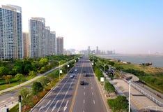 瓷横向都市的南昌 免版税库存照片