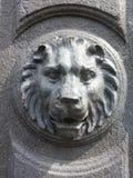 瓷狮子南京替补石头 库存照片