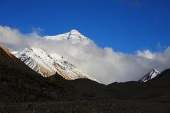 瓷珠穆琅玛横向本质西藏 库存图片