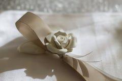 瓷白玫瑰 免版税库存照片