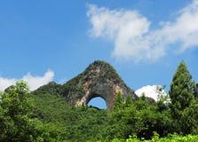 瓷石灰岩地区常见的地形风景 免版税图库摄影