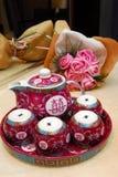 瓷罐茶 图库摄影