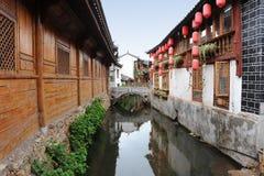 瓷老城镇 库存照片
