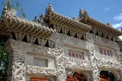 瓷花园大门hui昆明狮子 库存图片