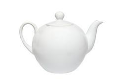 瓷茶壶白色 免版税库存照片