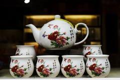 瓷茶壶 免版税库存图片