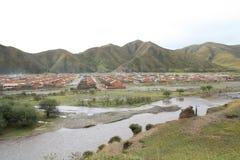 瓷草原藏语 库存照片