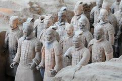 瓷著名赤土陶器战士县 免版税库存照片