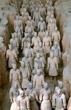 瓷著名赤土陶器战士县 免版税库存图片