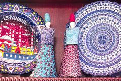 瓷被绣的板材老 库存照片