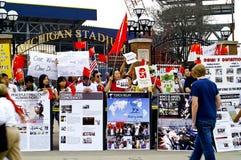 瓷赞成抗议者 免版税图库摄影