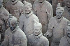 瓷赤土陶器战士 免版税图库摄影