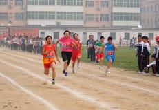 瓷野外比赛米种族学员跟踪 库存照片