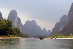 瓷锂南部河的航行 免版税库存照片
