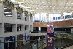瓷镇全面购物中心上面  免版税库存照片