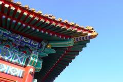 瓷顶房顶寺庙 免版税图库摄影
