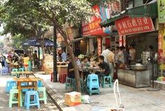 瓷食物街道 库存照片