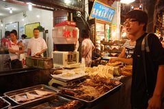 瓷食物街道 免版税库存图片