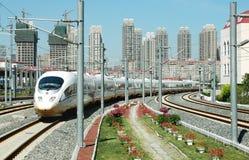 瓷高速火车 免版税图库摄影