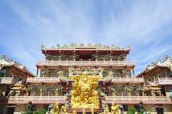 瓷chonburi寺庙泰国 库存照片