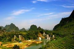 瓷detian guangxi瀑布 库存照片